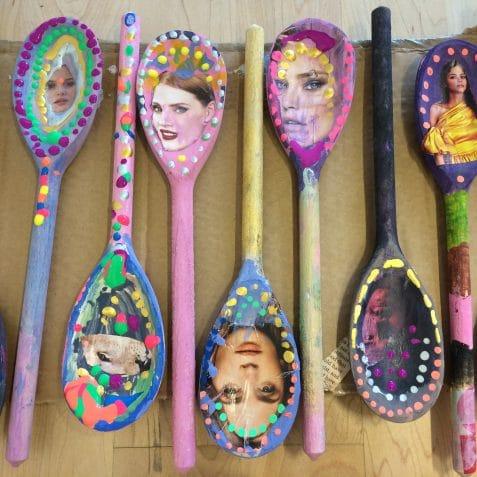 Crafty kids, poplar union, after school club, arts, crafts, Maud Barrett, textiles, upcycling, recycling, east London, community