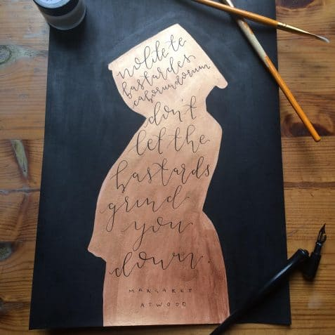 Calligraphy workshop, inspiring women, women in focus, poplar union, arts and crafts, east London, culture, art