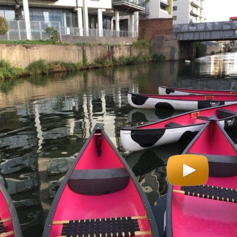 Poplar Union, how to get here, Limehouse Cut Canal, Limehouse Basin, Canoe, boat, paddle boarding, Poplar, directions, video, google maps, art centre, east London, theatre, music, events, e5 roasthouse, moo canoes, cafe