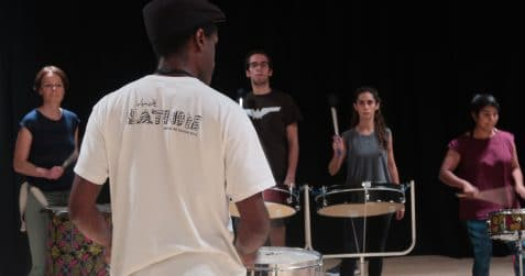 Dende nation, samba reggae, Brazilian drumming, percussion workshop, drumming workshop, carnival, east london, things to do, arts centre, poplar union, Mile End, bow, tower hamlets, community