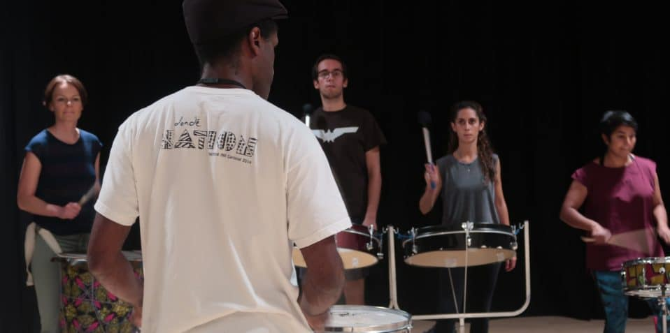 Dende nation, samba reggae, Brazilian drumming, percussion workshop, drumming workshop, carnival, east london, things to do, arts centre, poplar union, Mile End, bow, tower hamlets, community