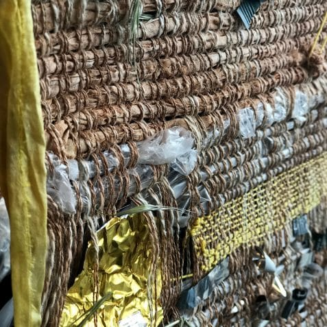 Soil Meet Waste, Maud Barrett, Femke Lemmens, Poplar Union, exhibition, weaving, upcycling, recycling, environment, East London, exhibition opening, e5 roasthouse, e5 bakehouse, free exhibition, things to do, art, culture, community, art centre
