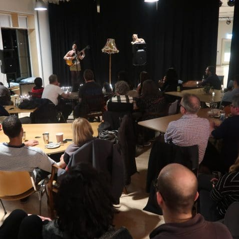 Live in the Library, Poplar Union, East London, gigs in London, free gigs, live music, showcase, upcoming artists, open mic, e5 roasthouse, Tower Hamlets