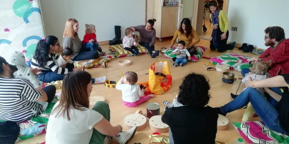 Mindful Music, Poplar Union, music workshop for babies, sensory play, East London, things to do, families, kids activities, health and wellbeing, tower hamlets