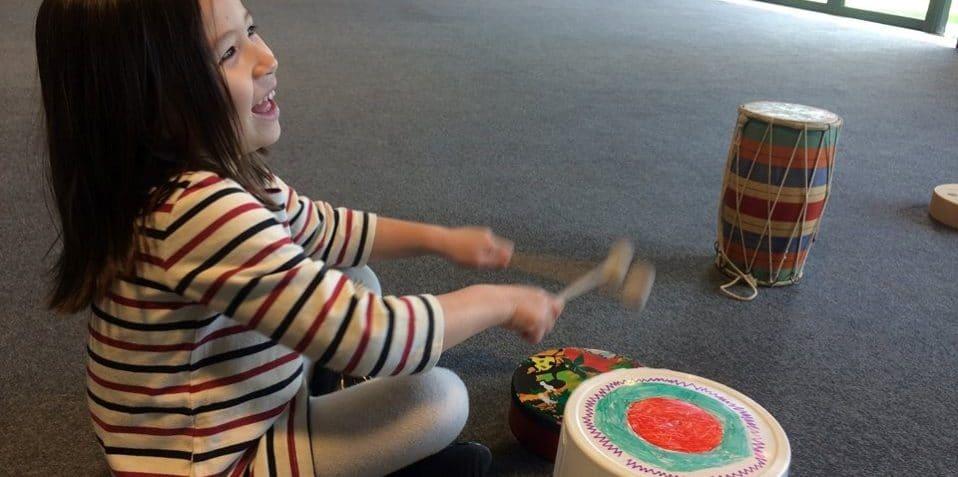 Mindful Music, Poplar Union, kids music club, mindfulness for children, East London, drumming, music, kids wellbeing