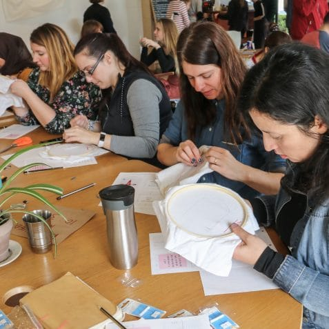 Embroidery Loop, embroidery meet up, Poplar Union, free, learn to embroid, East London, Milou, Moody Bright Designs, workshops near me, community