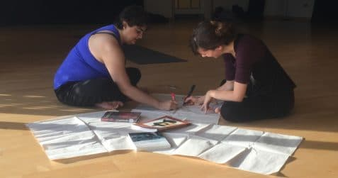 Rakhee Jasani, Vanio Papadelli, Write moves, poplar union, east London, yoga, writing workshop, wellbeing, tower hamlets, culture seeds funded