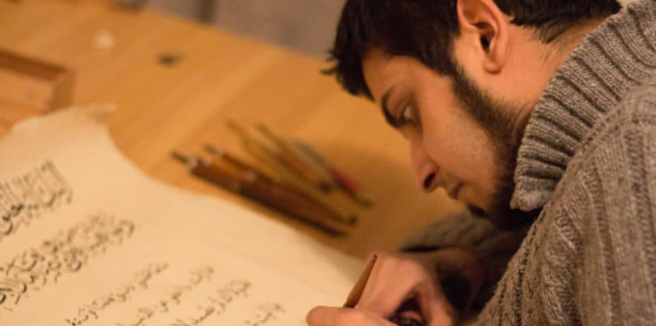 Arabic Calligraphy workshop, Poplar Union, East London, Tower Hamlets, things to do, arts and crafts, Samiur Rahman