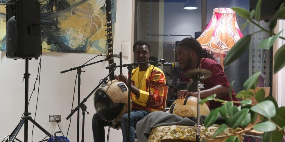 Black History Month, Poplar Union, East London, arts and community centre, tower hamlets, music, African music, kora, Jali Bakary Konteh, Yahael Camara-Onono.
